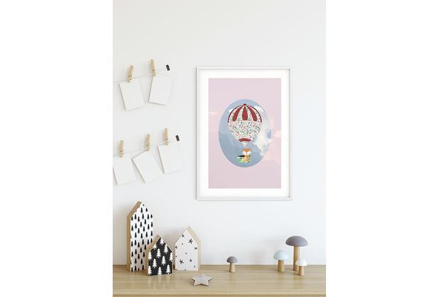 Komar Wandbild Happy Balloon Rose 30 x 40 cm