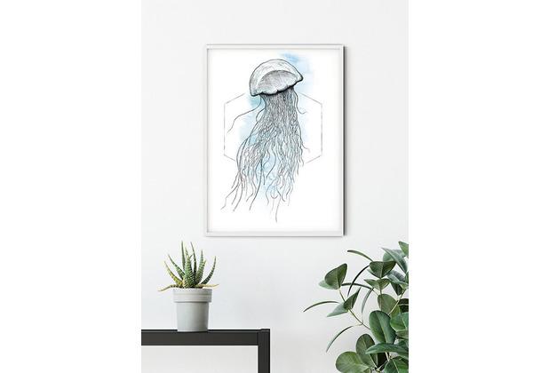 Komar Wandbild Jellyfish Watercolor 30 x 40 cm