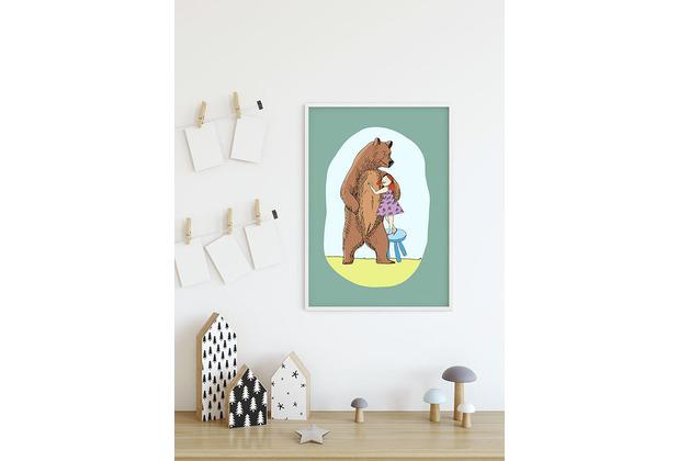 Komar Wandbild Lili and Bear 30 x 40 cm