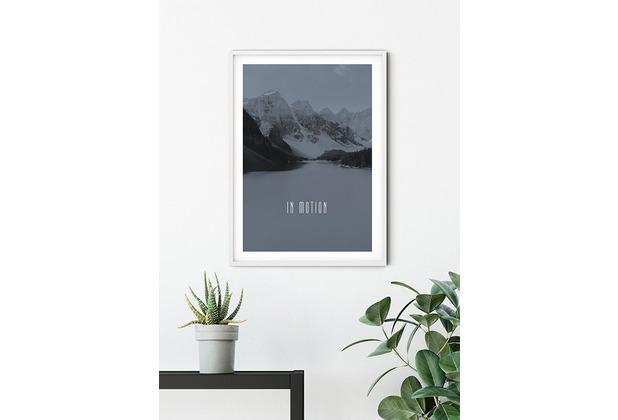 Komar Wandbild Word Lake In Motion Steel 30 x 40 cm