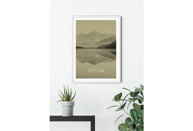 Komar Wandbild Word Lake Reflection Sand 30 x 40 cm