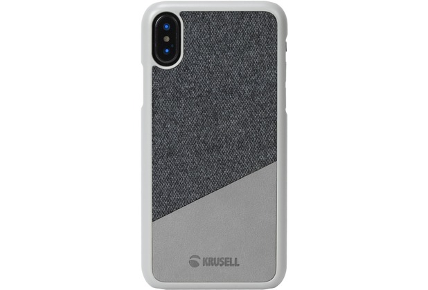 Krusell Tanum Cover, Apple iPhone XS, grau/grau