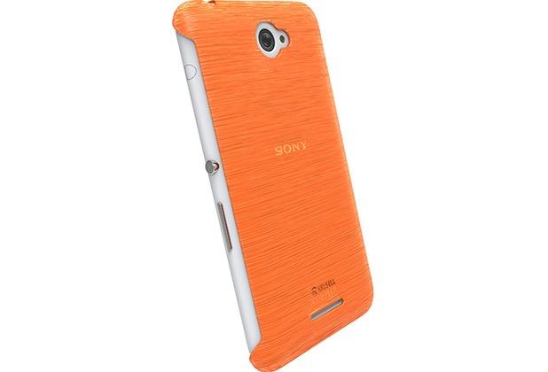 Krusell HardCover Boden für Sony Xperia E4, Orange Klar