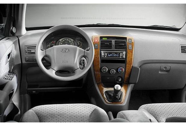 Kuda Lederkonsole für Hyundai Tucson ab 07/04 Kunstleder schwarz