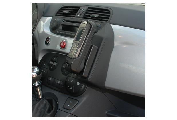Kuda Lederkonsole für Fiat 500 ab 08/07 Mobilia / Kunstleder schwarz