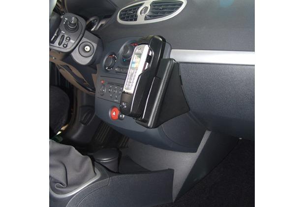 Kuda Lederkonsole für Renault Clio III ab 10/05 Mobilia / Kunstleder schwarz