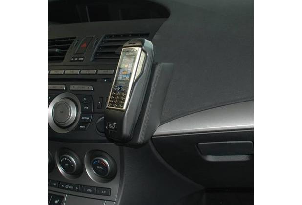 Kuda Lederkonsole für Mazda 3 03/2009 Echtleder schwarz