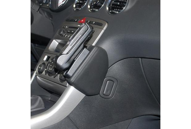 Kuda Lederkonsole für Peugeot 308 ab 09/2007 Mobilia / Kunstleder schwarz