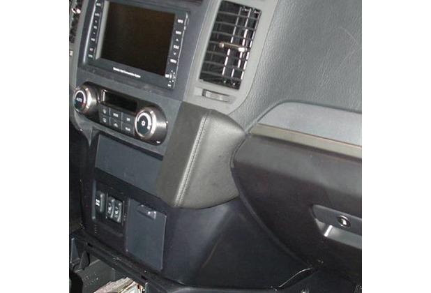 Kuda Lederkonsole für Mitsubishi Pajero (V80) ab 11/2006 Kunstleder schwarz