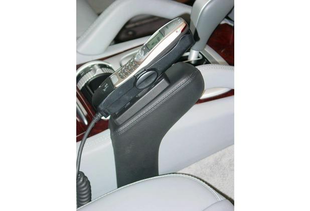 Kuda Lederkonsole für Porsche Cayenne ab 12/02 Kunstleder schwarz