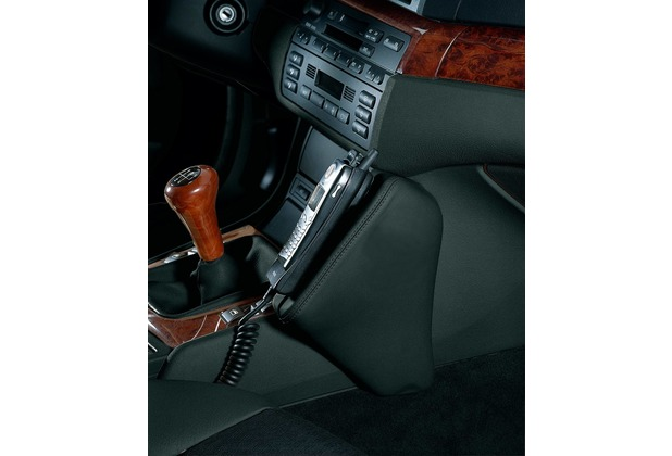 Kuda Lederkonsole BMW 3er / E46 ab 98 + Cabrio /Touring ab 06/2000 /Compact ab 6/01, Kunstleder schwarz