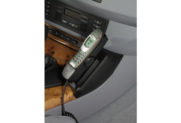 Kuda Lederkonsole für BMW X5 ab 3/00 bis 12/06 Kunstleder schwarz