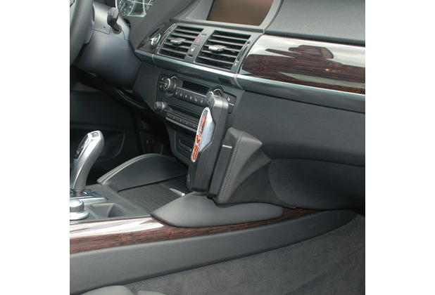 Kuda Lederkonsole für BMW X6 (E71) ab 05/2008 Mobilia / Kunstleder schwarz
