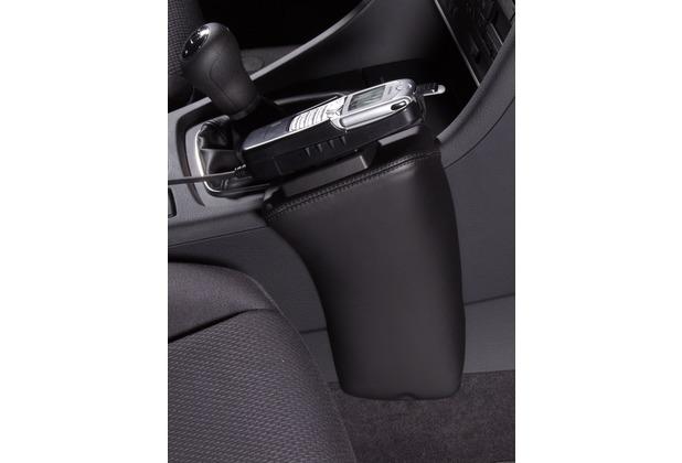 Kuda Lederkonsole für Audi A4 ab 11/00 & Cabrio ab 04/02, Seat Exeo Kunstleder schwarz