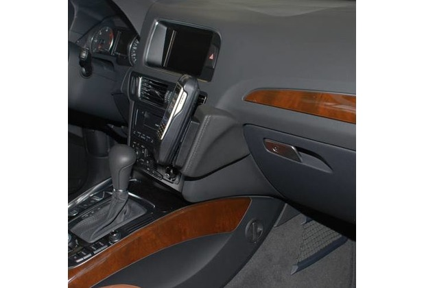 Kuda Lederkonsole für Audi Q5 ab 2008 Mobilia / Kunstleder schwarz