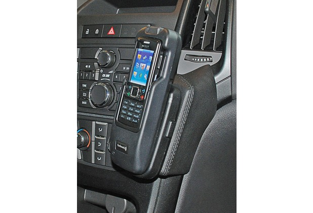 Kuda Lederkonsole für Opel Astra J ab 2009 Echtleder schwarz