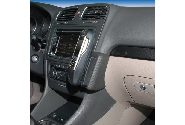 Kuda Lederkonsole für VW Golf VI ab 10/08, Variant ab 09/09 Echtleder schwarz