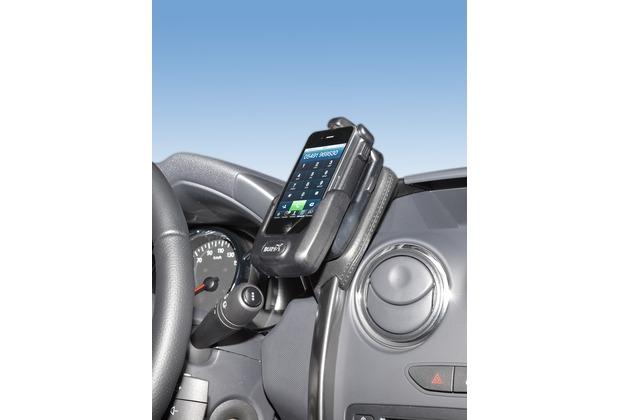 Kuda Lederkonsole für Dacia Duster ab 09/2013 Echtleder schwarz