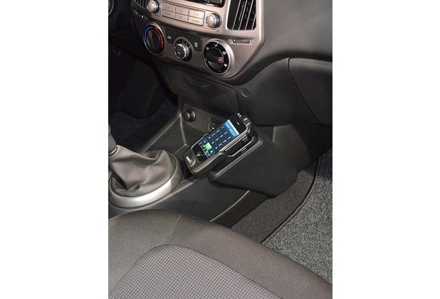 Kuda Lederkonsole für Hyundai i20 ab 09/2012 Echtleder schwarz