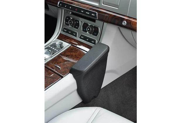 Kuda Lederkonsole für Jaguar XF 03/2009 Kunstleder / Mobilia schwarz
