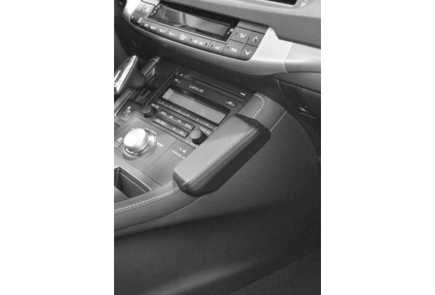 Kuda Lederkonsole für Lexus CT 200 H ab 03/2011 Mobilia / Kunstleder schwarz