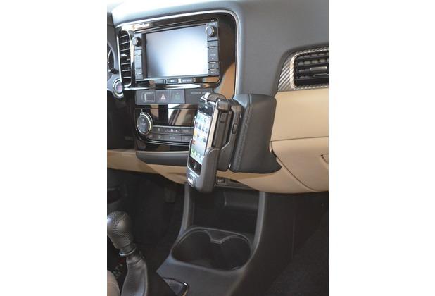 Kuda Lederkonsole für Mitsubishi Outlander ab 10/2012 Mobilia / Kunstleder schwarz
