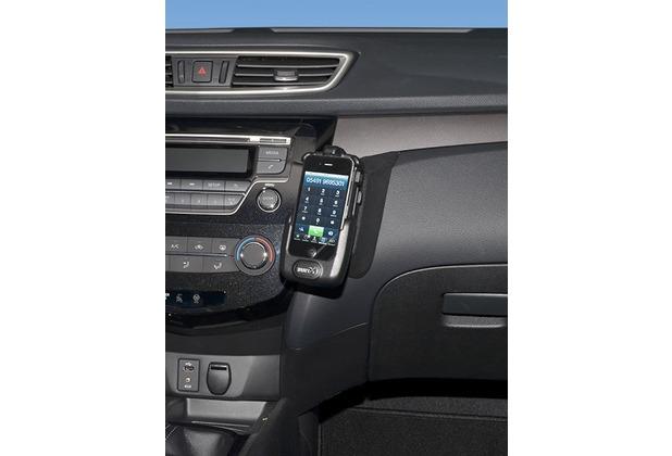 Kuda Lederkonsole für Nissan X-Trail ab 07/2014 / Qashqai 13- Echtleder schwarz