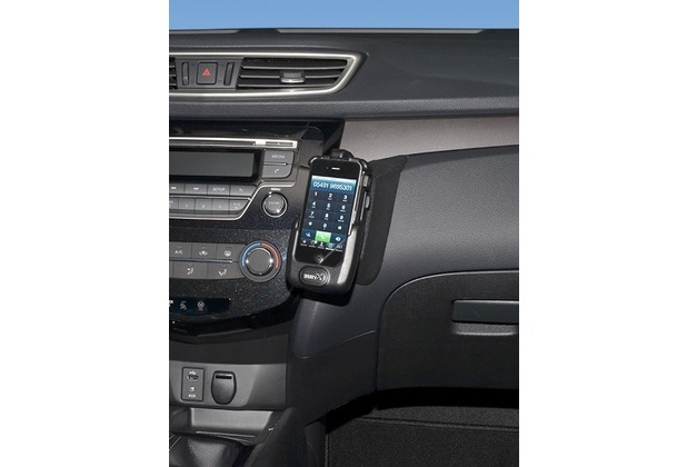 Kuda Lederkonsole für Nissan X-Trail ab 07/2014 / Qashqai 13- Kunstleder schwarz