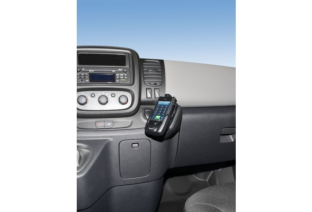 Kuda Lederkonsole für Opel Vivaro/ Renault Traffic 2014- unten Kunstleder schwarz