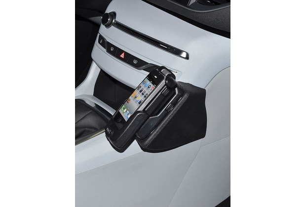 Kuda Lederkonsole für Peugeot 308 ab 2013 Echtleder schwarz