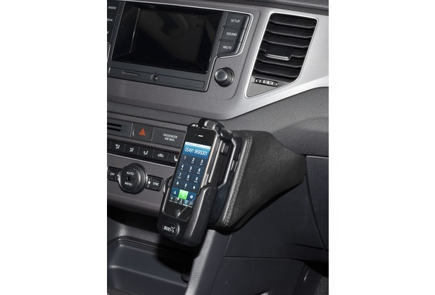 Kuda Lederkonsole für VW Golf Sportsvan ab 02/2014 Kunstleder schwarz