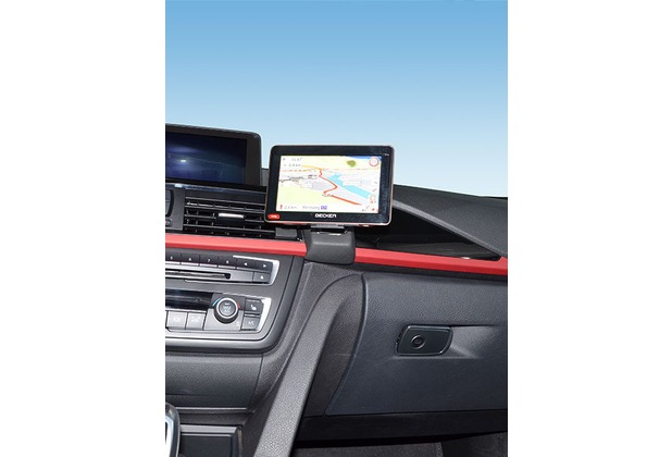 Kuda Navigationskonsole für BMW 3er ab 02/2012 (F30 F31 F34) & 4er Navi Echtleder schwarz 5020