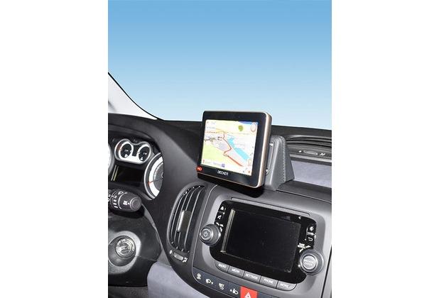 Kuda Navigationskonsole für Fiat 500 L ab 2013 Navi Kunstleder schwarz