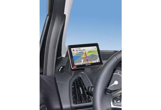 Kuda Navigationskonsole für Ford B-Max 03/2012- Echtleder schwarz