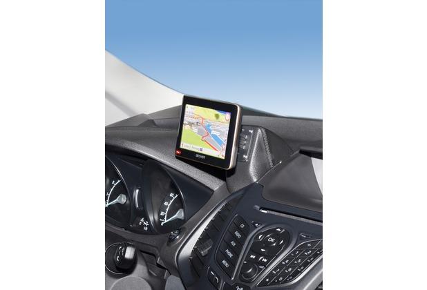 Kuda Navigationskonsole für Ford EcoSport ab 2012 Navi Echtleder schwarz