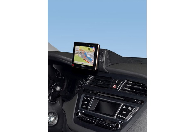 Kuda Navigationskonsole für Hyundai i20 ab 2014 Navi Kunstleder schwarz
