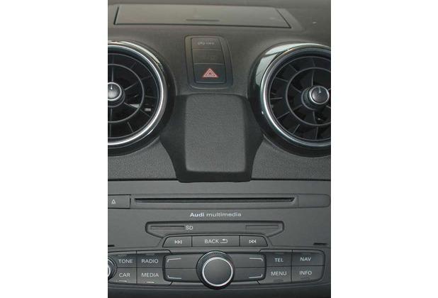 Kuda Navigationskonsole für Navi Audi A1 ab 09/2010 Echtleder schwarz