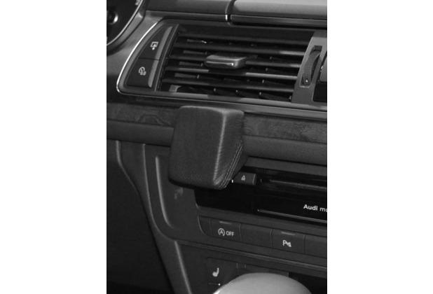 Kuda Navigationskonsole für Navi Audi A6 ab 03/2011, Audi A7 ab 2010 Echtleder schwarz