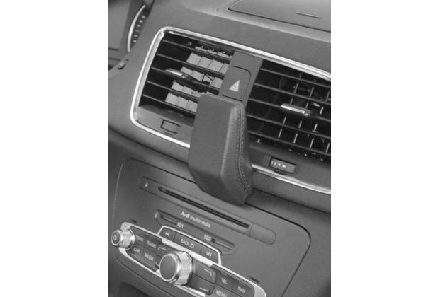 Kuda Navigationskonsole für Navi Audi Q3 ab 10/2011 Mobilia / Kunstleder schwarz