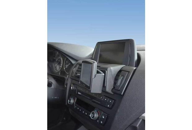 Kuda Navigationskonsole für Navi BMW 1er (F20) ab 10/2011 Echtleder schwarz