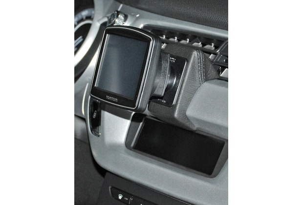 Kuda Navigationskonsole für Navi Citroen C3 2010 & DS3 Mobilia / Kunstleder schwarz