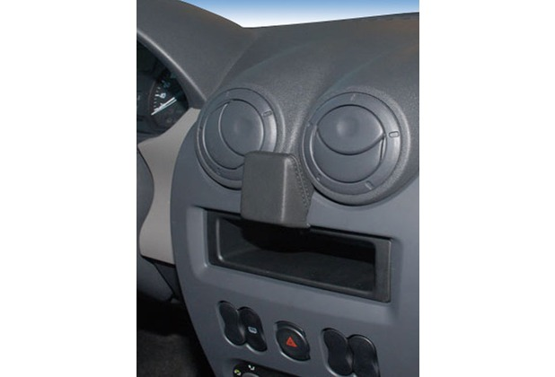 Kuda Navigationskonsole für Navi Dacia Sandero, Logan (07/08)/Duster Mobilia / Kunstleder schwarz