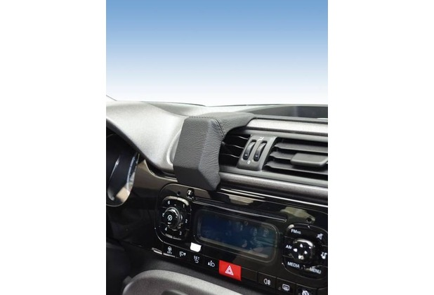 Kuda Navigationskonsole für Navi Fiat Panda ab 2012 Mobilia / Kunstleder schwarz