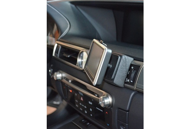 Kuda Navigationskonsole für Navi Lexus GS ab 2012 Echtleder schwarz