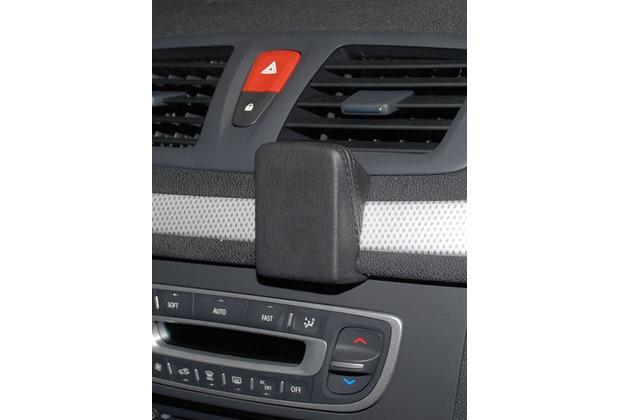 Kuda Navigationskonsole für Navi Renault Megane (12.2008-) Mobilia / Kunstleder schwarz