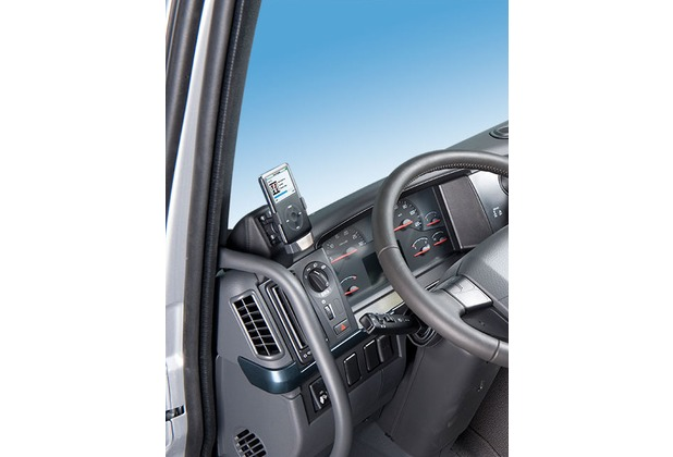 Kuda Navigationskonsole für Navi Volvo FH ab 2010 an A-S Mobilia / Kunstleder schwarz