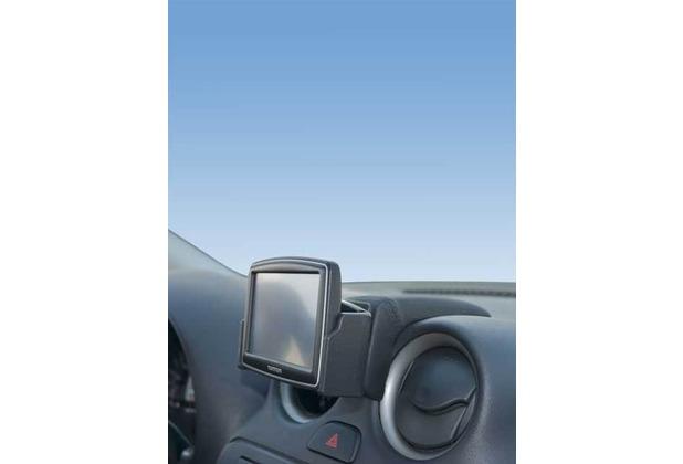 Kuda Navigationskonsole für Nissan Micra K13 ab 03/2011 bis 2014 Navi Mobilia / Kunstleder schwarz