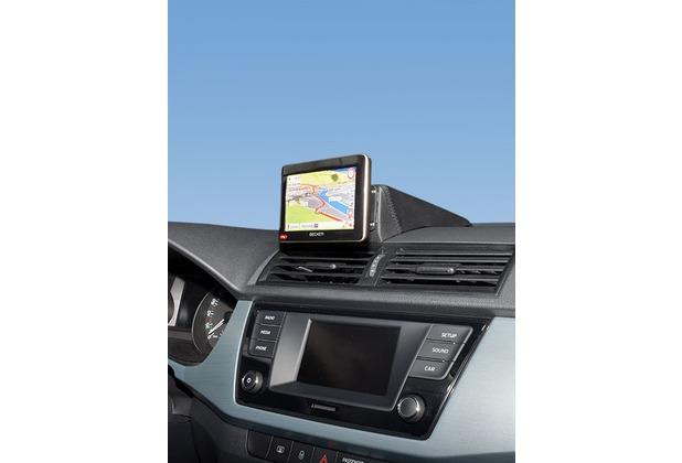 Kuda Navigationskonsole für Skoda Fabia ab 2014 Navi Echtleder schwarz