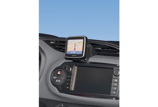 Kuda Navigationskonsole für Toyota Yaris ab 2014 Navi Kunstleder schwarz