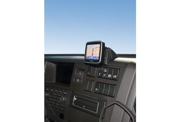 Kuda Navigationskonsole für Volvo Trucks FM / FMX ab 2013 EURO6 Navi Kunstleder schwarz